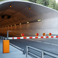The traffic barrier gates at skodtec provide maximum traffic control for both normal and wider lanes. The barrier functions as a modular solution with options for a folding boom-blocking crossings where the lane width ratio in both longitudinal and transverse directions is greater than 2:1.